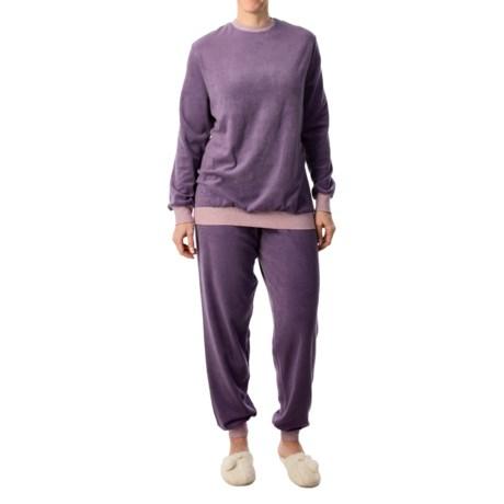 Calida Fruit Shake Cuffed Pajamas - Long Sleeve (For Women)