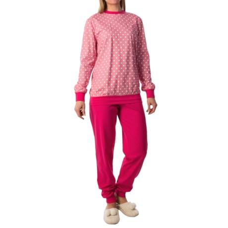 Calida Freesia Pajamas - Cotton Jersey, Long Sleeve (For Women)
