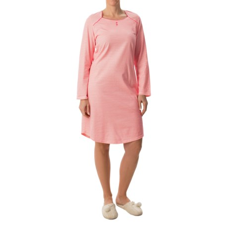 Calida Early Flower Nightgown - Long Sleeve (For Women)