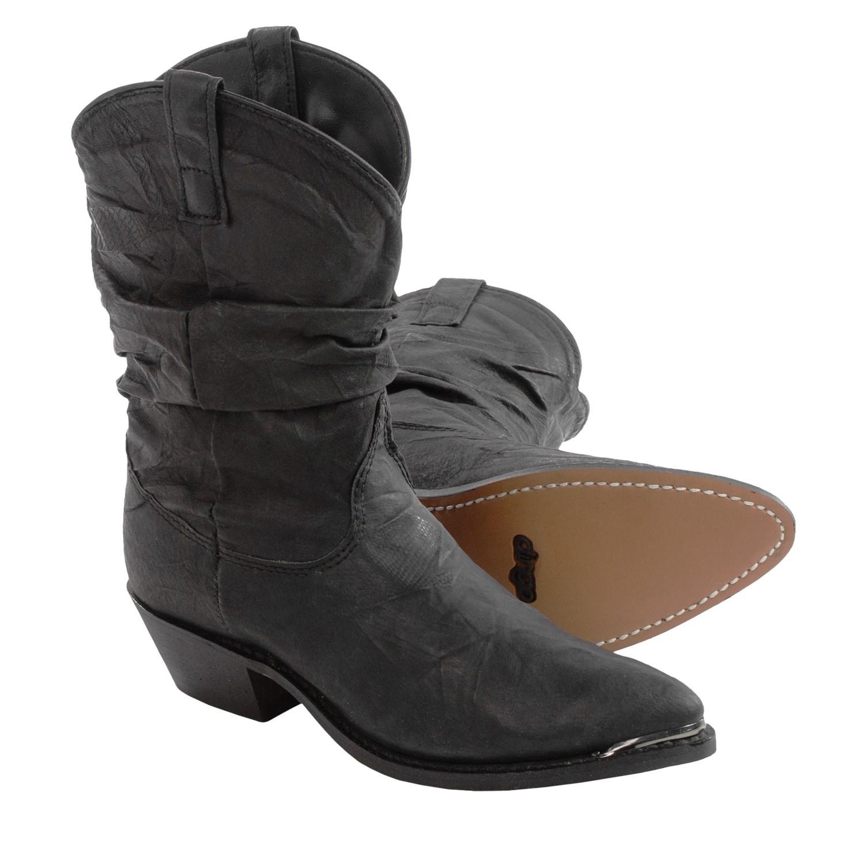 Dingo J-Toe Slouch Cowboy Boots (For Women) 120KM - Save 75%