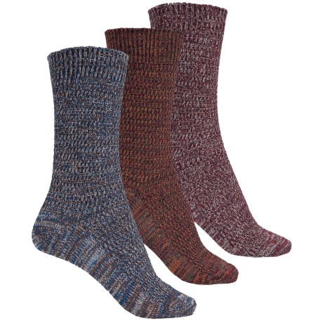 Muk Luks Marled Socks - 3-Pack, Crew (For Women)