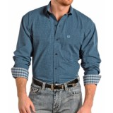 Panhandle Slim Select Peached Poplin Print Shirt - Long Sleeve (For Men and Tall Men)