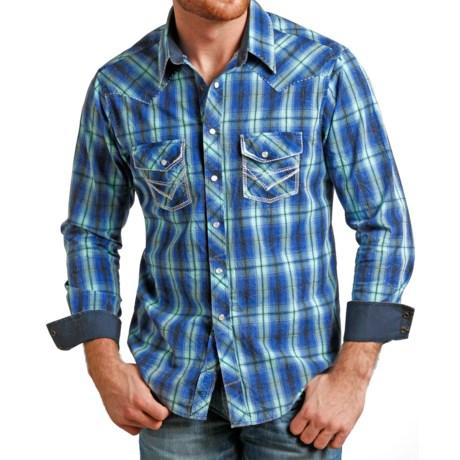 Rock & Roll Cowboy Cotton Satin Shirt - Long Sleeve (For Men)