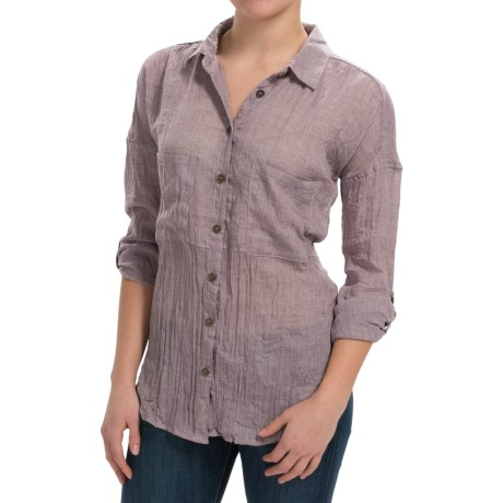 dylan Flyaway Split-Back Shirt - Long Sleeve (For Women)