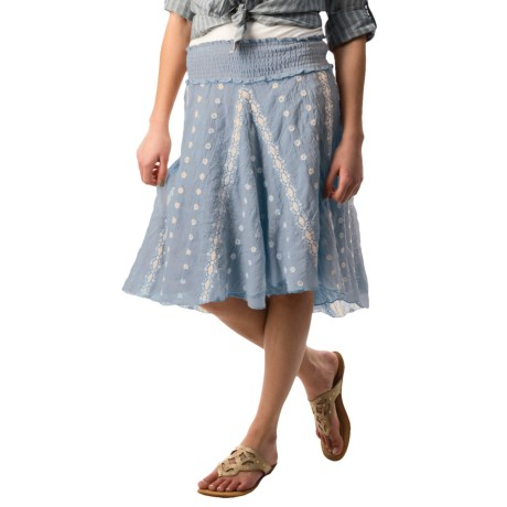 dylan Spanish Floral Embroidered Skirt (For Women)