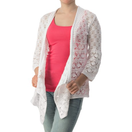 Eight Eight Eight Open-Front Cardigan Sweater - 3/4 Sleeve (For Women)