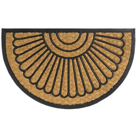 Home and More Half Moon Doormat - Coir and Rubber
