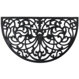 """Home and More Half Moon Rubber Iron Doormat - 18x30"""""""