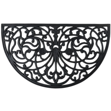 Home and More Half Moon Rubber Iron Doormat - 18x30""