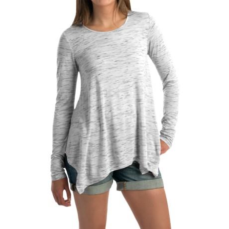 G.H. Bass & Co. Spacey Streak Shirt - Handkerchief Hem, Long Sleeve (For Women)