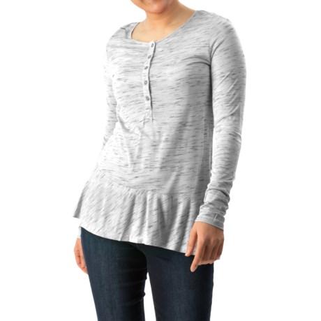 G.H. Bass & Co. Dawn Spacey Streak Shirt - Button Neck, Long Sleeve (For Women)
