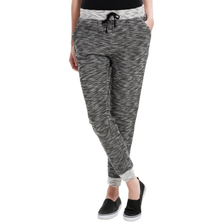 G.H. Bass & Co. Michelle Space-Dyed Slub-Knit Track Pants (For Women)