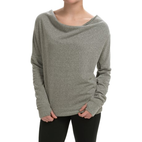 Steve Madden Draped-Neck Keyhole Sweatshirt (For Women)