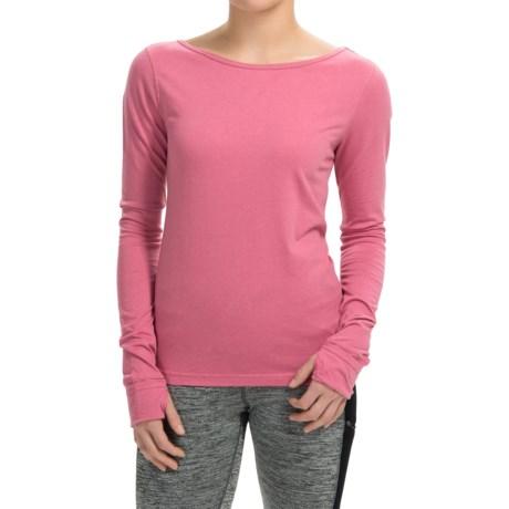 Steve Madden Low-Back T-Shirt - Long Sleeve (For Women)