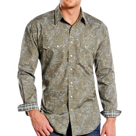 Rough Stock by Panhandle Print Shirt - Snap Front, Long Sleeve (For Men)