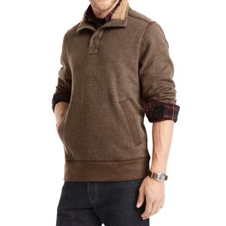 G.H. Bass & Co. Dale Sueded Mock Fleece Pullover Shirt - Long Sleeve (For Men)