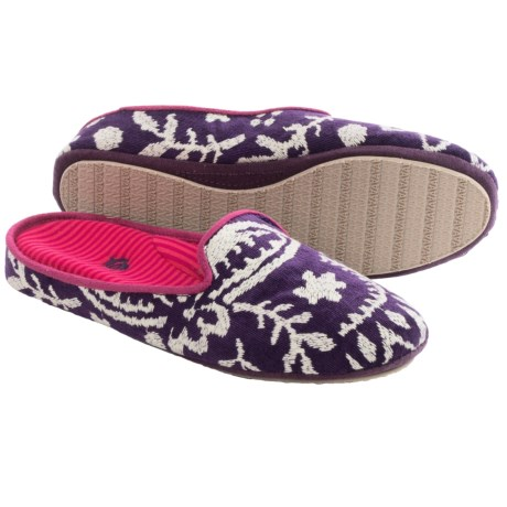 Acorn Novella Scuff Slippers - Cotton (For Women)