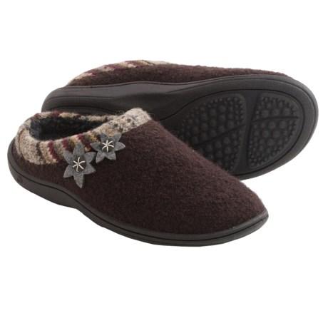 Acorn Dara Mule Slippers - Boiled Wool (For Women)
