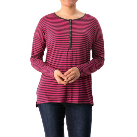 G.H. Bass & Co. Viscose Striped Shirt - Long Sleeve (For Women)