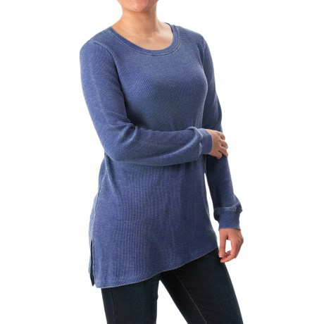 G.H. Bass & Co. Asymmetrical Waffle-Knit Shirt - Long Sleeve (For Women)