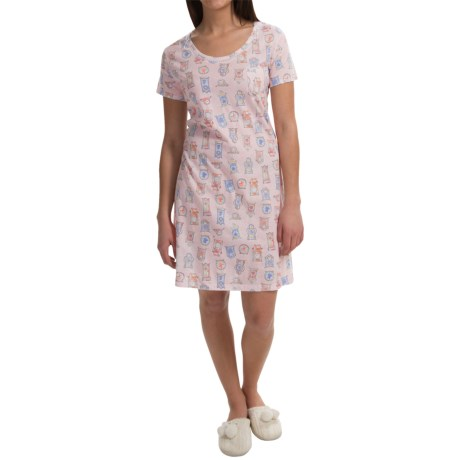 Carole Hochman Everyday Beauty Nightshirt - Short Sleeve (For Women)