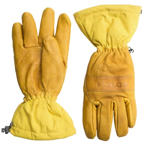 Flylow Upslope Leather Gloves - Waterproof (For Men)