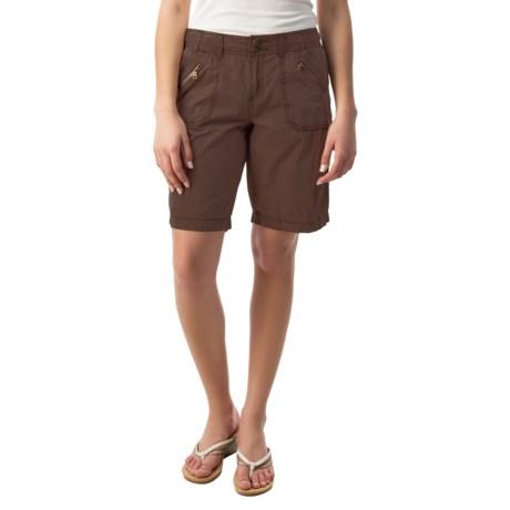 Front-Zip Shorts (For Women)