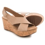 Clarks Caslynn Shae Wedge Sandals - Nubuck (For Women)