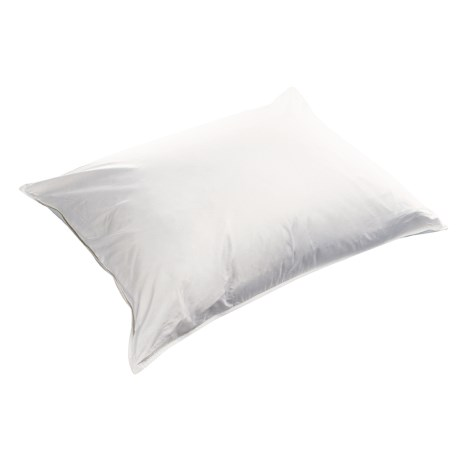 Melange Home Fashions White Goose Down Pillow with Bonus Sateen Cover