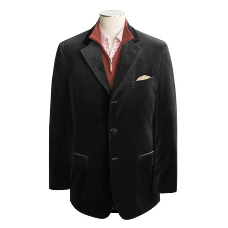 Bill Blass Velvet Sport Coat - Cotton (For Men)