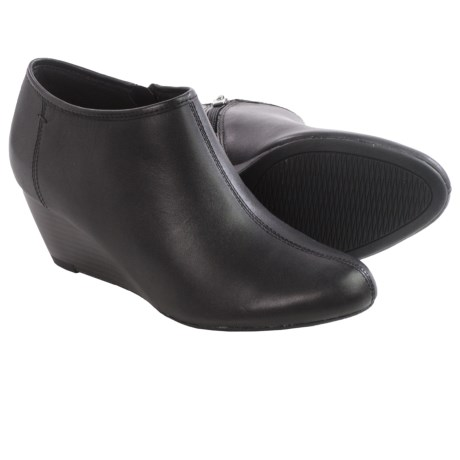 Clarks Brielle Abby Ankle Boots - Leather, Wedge Heel (For Women)