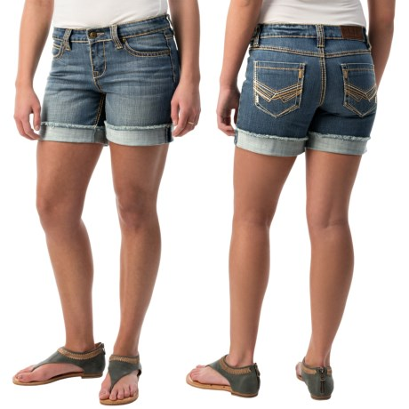 Cowgirl Up Ranch Jean Shorts (For Women)