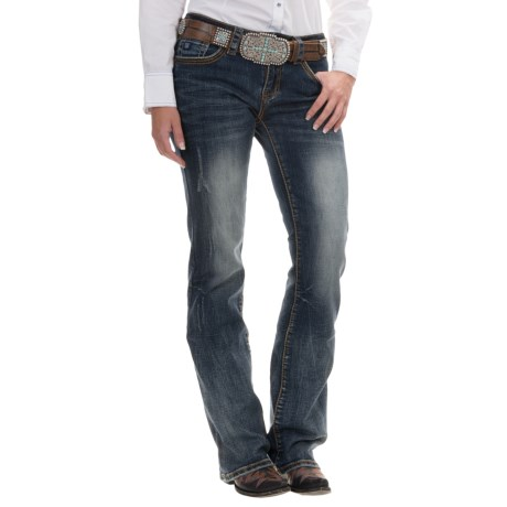 Cowgirl Up Hunter Bootcut Jeans - Mid Rise, Relaxed Fit (For Women)