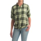 dylan Outpost Plaid Blouse - Roll-Up 3/4 Sleeve (For Women)