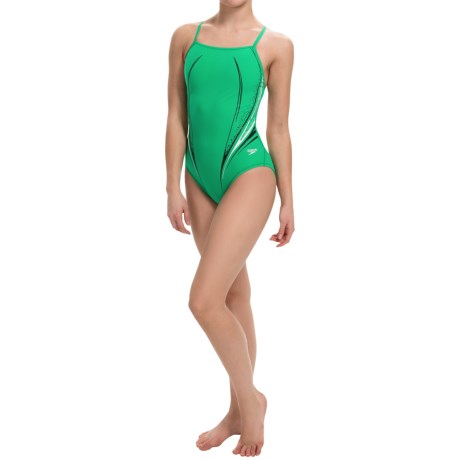 Speedo Motion Dart High-Performance Swimsuit - Flyback (For Women)