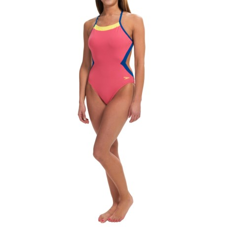 Speedo Color-Block Swimsuit - Extreme Back (For Women)