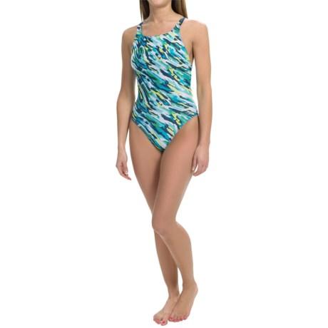 Speedo Team Camo Swimsuit - Recordbreaker Back (For Women)