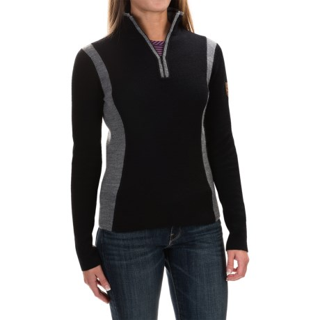 Obermeyer Verbier Ski Cashmere Sweater - Merino Wool-Cashmere, Zip Neck (For Women)