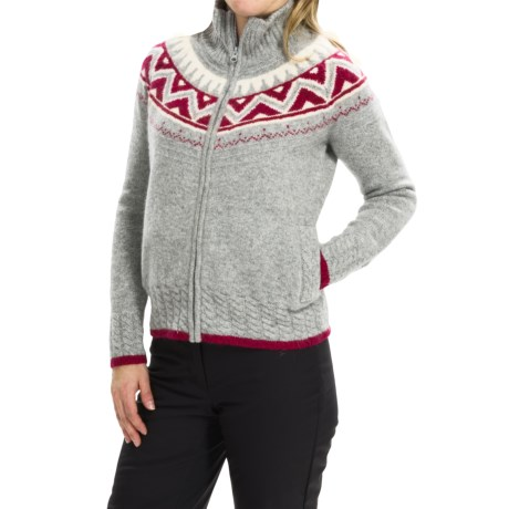 Obermeyer Frances Cardigan Sweater - Full Zip, Wool and Angora Blend (For Women)