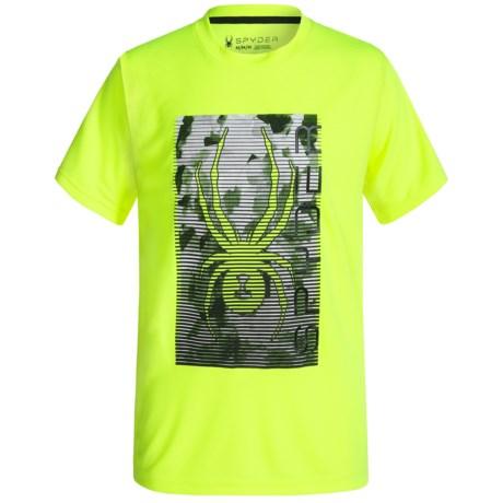 Spyder Large Print Logo Jersey T-Shirt - Short Sleeve (For Big Boys)
