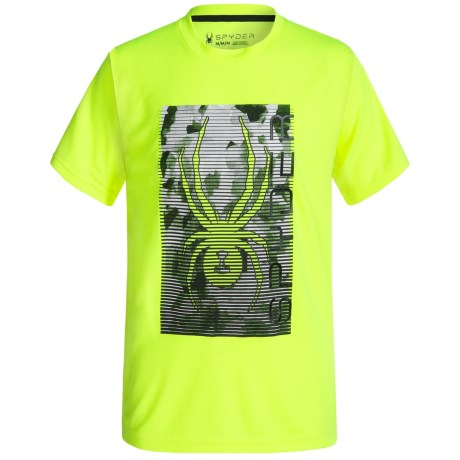 Spyder Large Print Logo Jersey T-Shirt - Short Sleeve (For Big Boys)