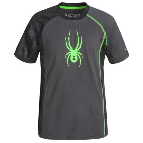 Spyder Half-Web Sleeve Interlock Shirt - Short Sleeve (For Big Boys)