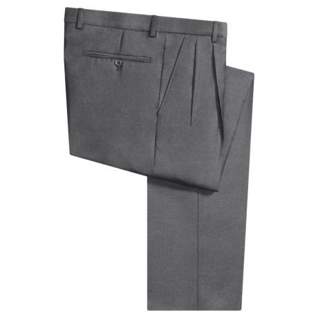 Incotex Salia Superfine Wool Dress Pants - Pleated Front (For Men)