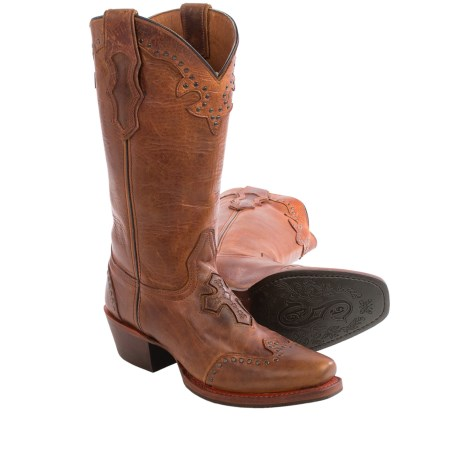 Sonora Faith and Hope Leather Cowboy Boots - Snip Toe (For Women)