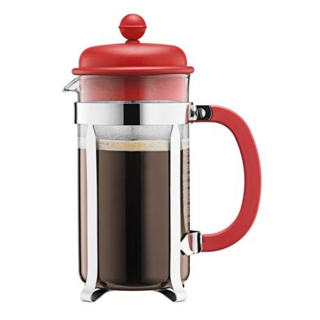 Bodum Caffettiera 8-Cup French Press Coffee Maker - 34 fl.oz., Red
