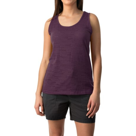 Pointelle Burnout Tank Top (For Women)