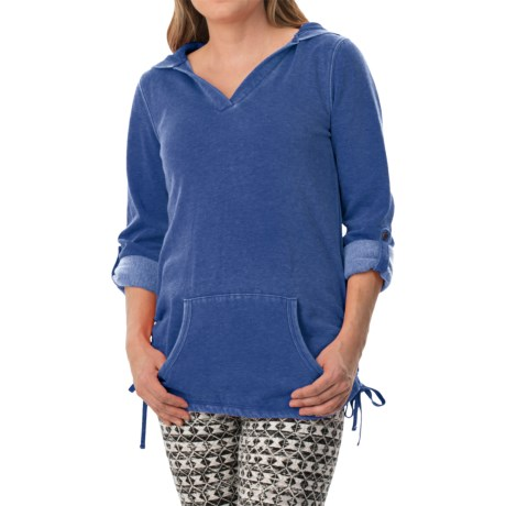 Marc New York Performance Distressed Fleece Tunic Shirt - Hooded, Long Sleeve (For Women)