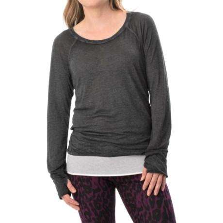 Marc New York Performance Shirred-Back T-Shirt - Long Sleeve (For Women)