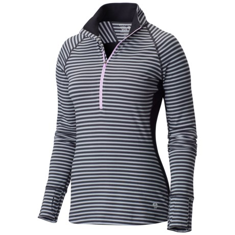 Mountain Hardwear Butterlicious Shirt - Zip Neck, Long Sleeve (For Women)