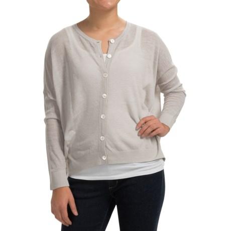 Inhabit Solid Wool-Blend Cardigan Sweater (For Women)
